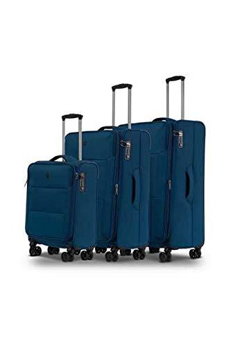 CONWOOD Soho - Eva Verstärkt Polyester leicht Kofferset (78 cm, 68 cm, 55 cm) mit Expander (Sizes M/L), und 3-Jahre Conwood WeCare Garantie, Sailor Blau