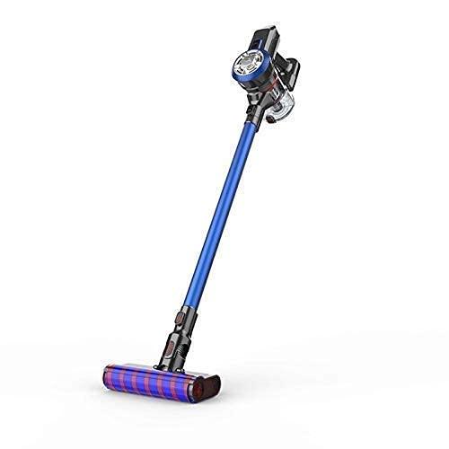 Portátil 2-en-1 inalámbrico aspirador inalámbrico alto succión cepillo de tierra eléctrico grande con luz LED Múltiples accesorios (Color: Azul) Liuchang20 (Color: Azul) (Color: Azul) Jianyou (Color: