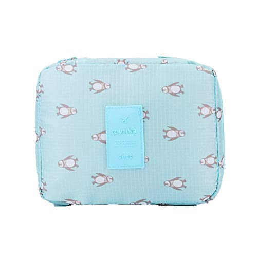 SSLHDDL Clothes Storage Bag Women Travel Organizer Bag Clothes Portable Storage Case Luggage Suitcase Girls (Color : Blue penguin)
