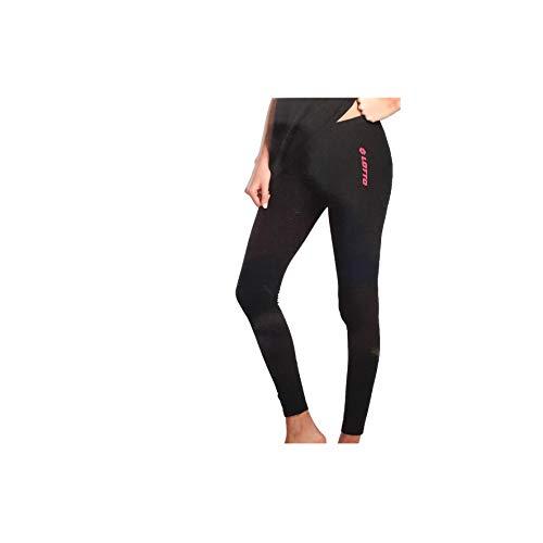 Lotto Leggings Donna in Cotone Elasticizzato Art 1010 Promo Disponibile Fitness Yoga Palestra Abbigliamento Sportivo (Nero, XL)