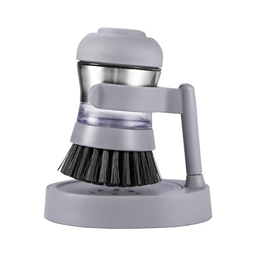 Hydraulisch Stainless Steel Cleaning Brush, met Storage Liquid, Keuken Storage Pot Brush, geschikt voor Home Kitchen Brush Bowl, Brush Pot, Gray