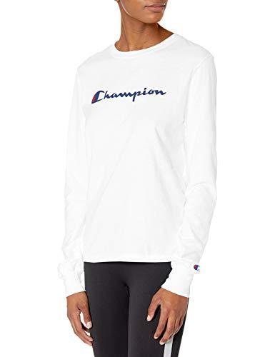 Champion Classic Camiseta, Blanco, XS para Mujer