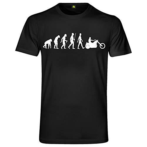 Evolution Chopper T-Shirt | Motorrad | Motorcycle | Biker | Club | Bike Schwarz 3XL
