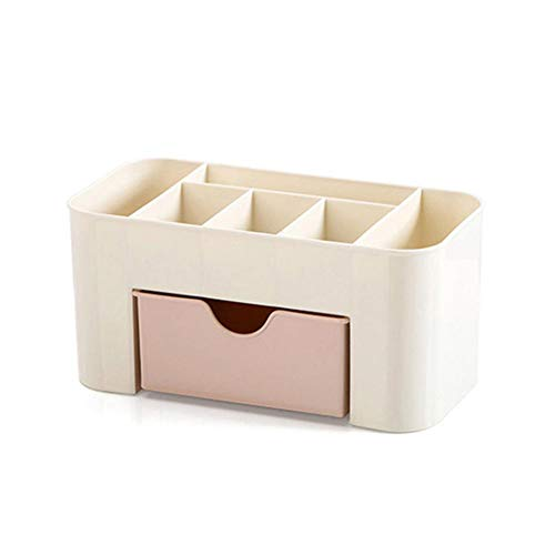 Beeria Delicate Makeup Organiser Make up Drawer Nail Polish Box Bin Cosmetic Storage Stand Brush Pen Jewelry Organizer Table Box Portable Desktop Storage for Adults and Kids