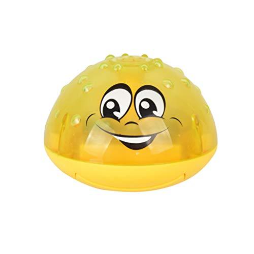 Watopi - Bola de baño con efecto pulverizador, 2 luces intermitentes de música, bonito rociador de inducción, juguete de luz para la bañera para bebés y madres