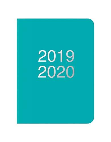 formato A5 Letts rilegata a spirale colore nero A5 Electric Blue Agenda settimanale 2019-2020