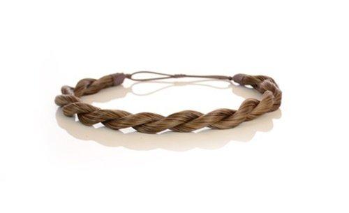 Bandeau à Cheveux Torsade Effet Corde Brun Automne | Bandeau à Cheveux Corde | Bandeau à Cheveux à Elastique