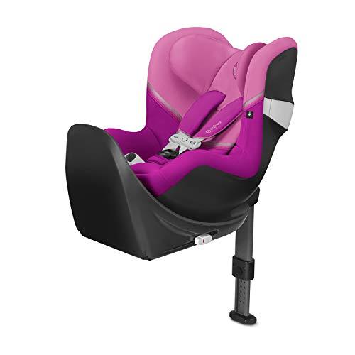 Cybex - Silla de coche grupo 0+/1 Sirona M2 i-size, desde el nacimiento hasta los 4 años, de 45 cm hasta 105 cm aproximadamente, 19 kg máximo, con base M, Rosa ( Magnolia Pink)