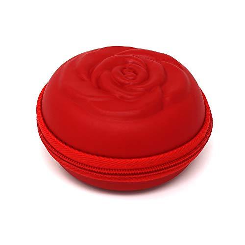 Estuche SileuCase para copas menstruales – Ideal para llevar tu tampón o copa menstrual de forma elegante y discreta en tu bolso o para viajes - Grande, 10 cm - Rojo