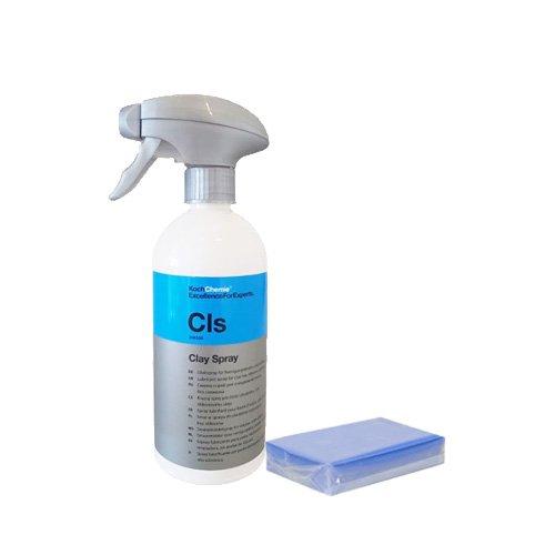 cleandot Vorteilspaket Koch Chemie Clay Spray & Liquid Elements Reinigungsknete blau, 100g