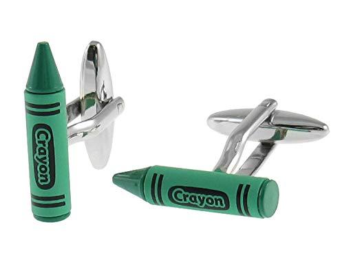 Manchetknopen wax kleur groen - potlood groen