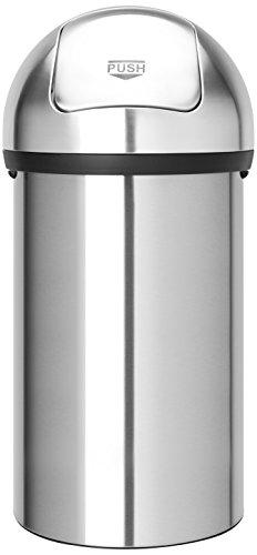 Push Bin 60 L / Matt Steel
