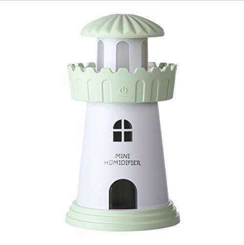 HRFHLHY aromatherapie-mist, nachtlampje, luchtontvochtiger, stil, luchtreiniging, USB-luchtreiniging, luchtbevochtiger, groen