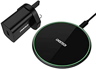 15W Fast Wireless Charger, CHOETECH QI Wireless Charging Pad for LG V30/V30+, 7.5W Compatible with iPhone 11/11 Pro Max/XS...