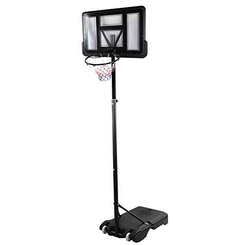 T-Day Aro de Baloncesto Ajustable, Aro de Baloncesto, Aro de Baloncesto extraíble portátil Soporte Ajustable en Altura Suministros Deportivos para Adultos