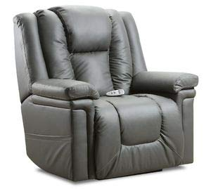 Lane Boss (Extra Lg.) Big Man Power Lift Recliner. Patriot Smoke (Moisture Resistant Fabric. 42% Polyester/58% PU). Duo Motors (Control Foot. and Back Rest Separately) Heat and 6 Motor Massage.