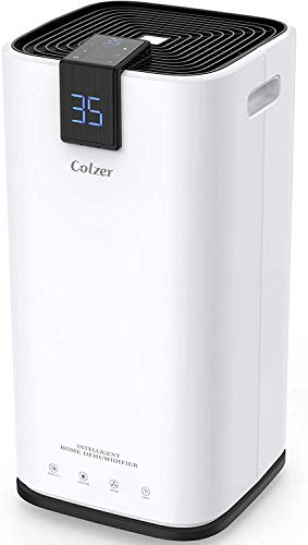 COLZER 70 Pints Home Dehumidifiers for 4,500 SQ FT Basements & Large Rooms, Large Removal Capacity with 7.4-Pint Water Bucket & Continuous Drain Hose for Self-draining