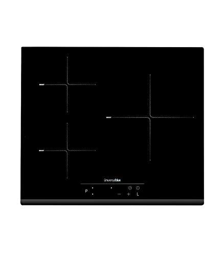 UNIVERSALBLUE   Placa Inducción   3 Fuegos   Potencia 6500 W   Control Táctil   Temporizador   Función Boost   Color Negro