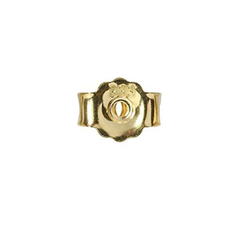 Ohrsteckerpoussette 5 mm 333er Gold Butterfly-Verschluss 8 Karat Ohrmutter