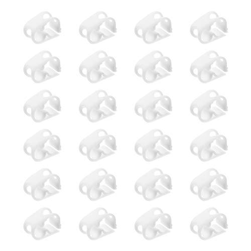 ULTECHNOVO 24-Teilige Kunststoffrohrklemmen Absperren Der Schlauchklemme Laborklemmventil Durchflussregelung Schlauchrohrclip für Aquarium Aquarium Infusionsflasche Bierflasche Weiß