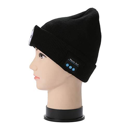 Ishine Gorro con Bluetooth para hombre con gorro de punto musical ligero con auriculares y música estéreo integrada para correr, senderismo, unisex