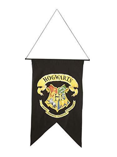 Rubies-H-9719 Harry Potter Etendard Hogwarts (Poudlard), Enfants Unisexes, H-9719, Noir, Taille Unique