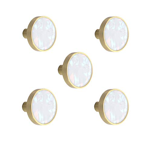 Brass Knobs Marble Pattern for Cabinets