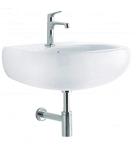 Pozzi Ginori - Egg 51030 lavabo monoforo sospeso Bianco Art.51030000-60 cm, Bianco, A Magazzino