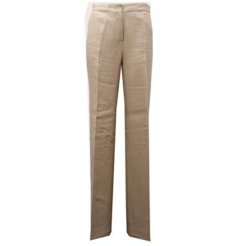 MaxMara 7701AE Pantalone Donna Studio Beige Linen Trouser Woman [38]