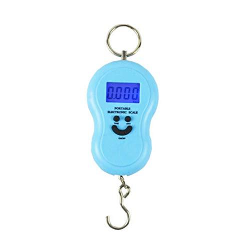 Escala electrónica portátil Pantalla LCD de Alta precisión de 45 kg Pantalla de Cuatro dígitos Mini Escala-Azul