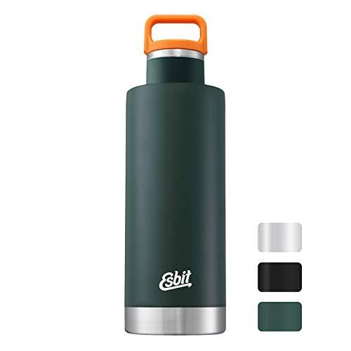 Esbit 410139 Sculptor Isolierflaschen, Edelstahl, 1 Liter, Forest Green