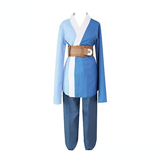 Naruto Mitsuki Kimono Cosplay Disfraz para hombre, ropa de dormir casual Anime Túnica de noche Pijamas con bolsa de cinturón Azul azul M