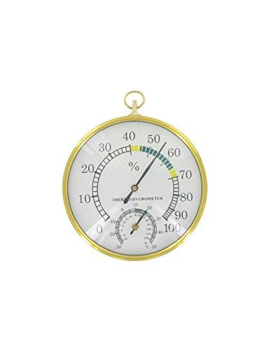 JAG DIFFUSION STIL Thermomètre hygromètre bimétal, Doré, 30 x 100 x 100 cm