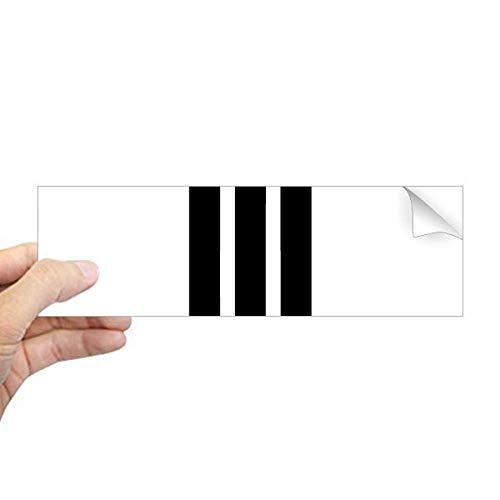 DIYthinker Romeinse cijfers Drie In Zwart silhouet Rechthoek Bumper Sticker Notebook Window Decal