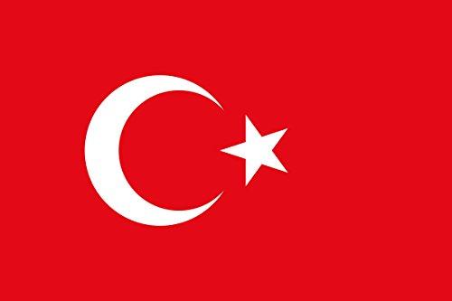 Bandiera 150 x 90 cm - 100% poliestere impermeabile - Sostenitore di calcio - Starke Media - Tacchino