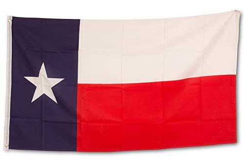 SCAMODA Bundes- und Länderflagge aus wetterfestem Material mit Metallösen (Texas) 150x90cm