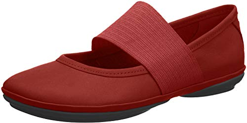 CAMPER Damen Right Nina Mary Jane Halbschuhe, Rot Dark Red 600, 36 EU