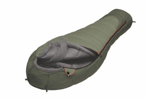 Alexika Aleut Winterschlafsack mit Wärmekragen - warmer, komfortabler Mumienschlafsack für Erwachsene und Familien Outdoor Camping bis -8 C mit Kompressionssack und rechtem Reißverschluss, 230x95x65