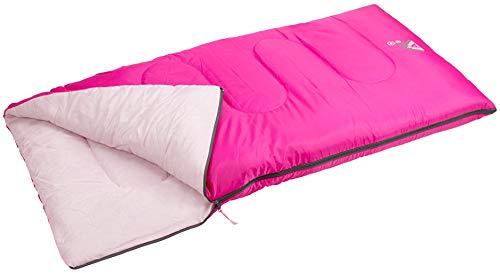 ABBEY - Sacco a Pelo per Bambina, 140 x 70 x 5 cm, Colore: Fucsia/Rosa