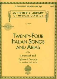 24 ITALIAN SONGS + ARIAS - arrangiert für Gesang - Hohe Stimme (High Voice) - (Gesang - Mittlere Stimme (mezzo / Medium Voice)) - Klavier - mit CD [Noten / Sheetmusic]