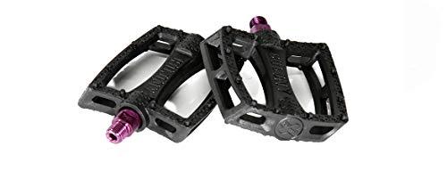 Colony BMX - Pedali in plastica, colore: Nero/Viola
