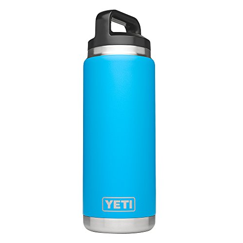 YETI Rambler 26 oz Bottle, Vacuum Insulated, Stainless Steel with TripleHaul Cap, Tahoe Blue