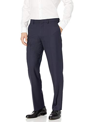 Amazon Essentials Men's Classic-Fit Wrinkle-Resistant Stretch Dress Pant, Navy, 30W x 29L