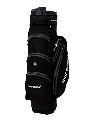 tour-made Waterproof WP14TEX Organizer Trolleybag Golfbag Golftasche Wasserdicht (schwarz-grau)