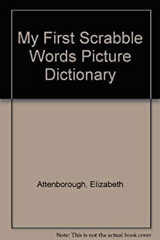 Hardcover My First Scrabble Words Picture Dictionary Book