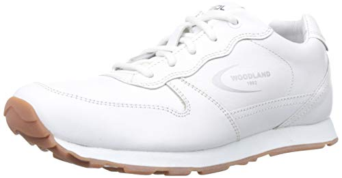 Woodland Men's White Leateher Sneakers -11 UK/India (45 EU)-(GJ 2813118)