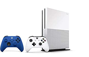 Xbox One S 1TB Bundle - Version 2 2X Wireless Controllers  1x White + 1x Blue  - 1 Month Xbox Game Pass Trial