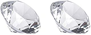 60mm(2-2/3Inches) Glass Crystal Diamond Paperweight Set of 2,Paperweights for Book,Paperweights for Desk Decorations