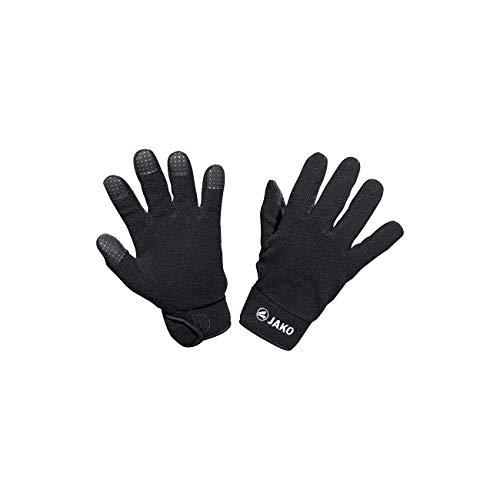 JAKO Fleece Feldspielerhandschuhe Handschuhe, schwarz, 6