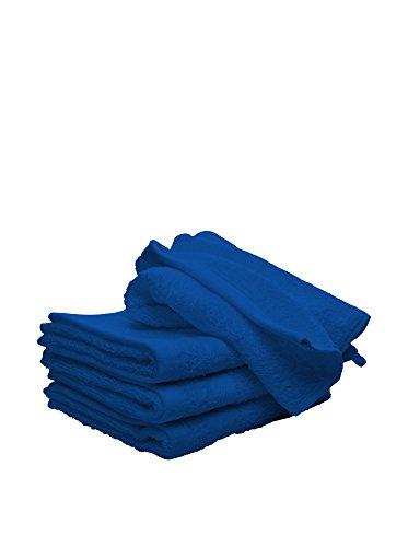 Italian Bed Linen MB Home Juego de Toallas, Algodón, Azul Royal, 25x35x3 cm, 2 Unidades